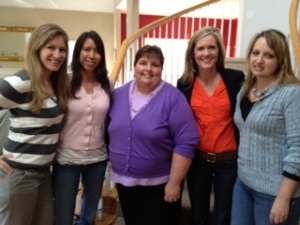 L-R: Sarah Mae, Kat Lee, Renee Parris, Angela Perritt, and Misty Krawsaski
